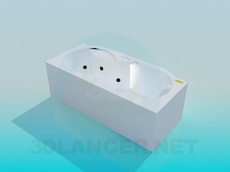 3d модель Ванна-джакузи – превью
