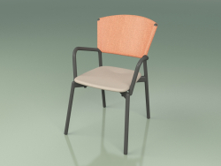 Chair 021 (Metal Smoke, Orange, Polyurethane Resin Mole)