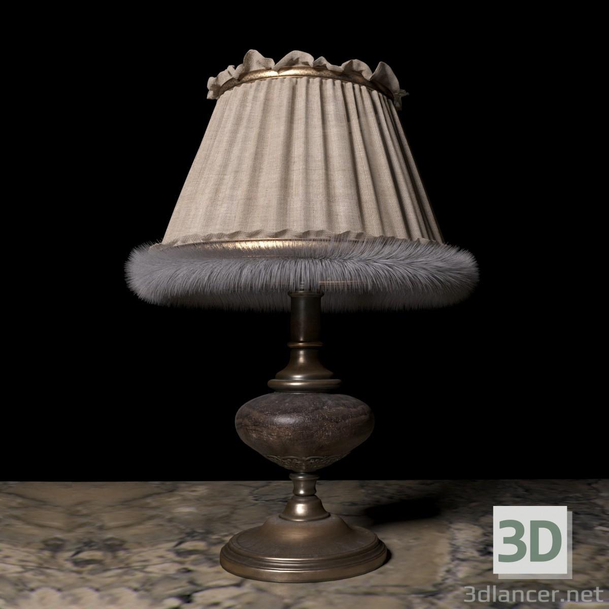 3D Modell Tischleuchte - Vorschau