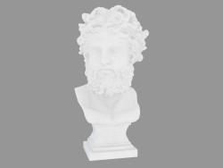 Scultura in marmo Busto di Zeus