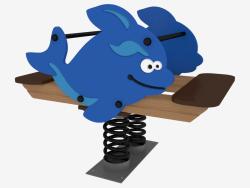 Rocking chair of children's playground Killer whale (6121)