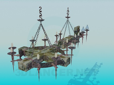 3d modeling Antique chandelier for Tavern model free download