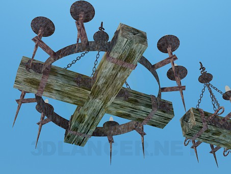3d model Antique chandelier for Tavern - preview