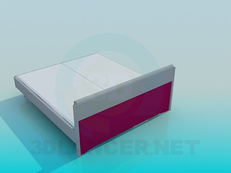 3d model Bed with orthopedic mattress - preview