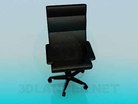 3d модель Стілець в офіс для начальства – превью
