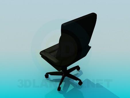 3d модель Стул в офис для начальства – превью