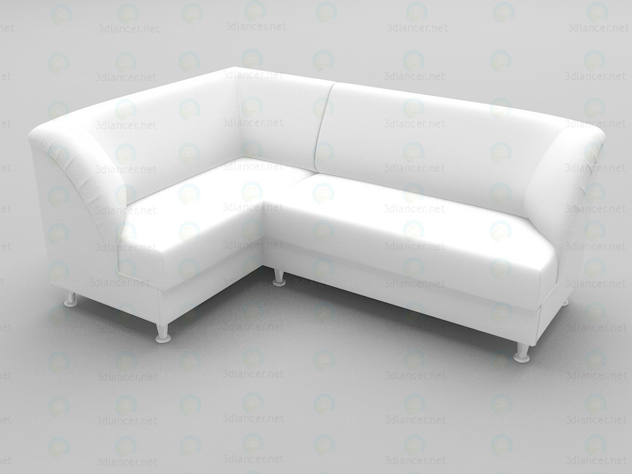 3d model Corner sofa Office - preview