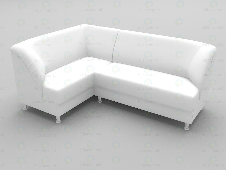 3d modeling Corner sofa Office model free download