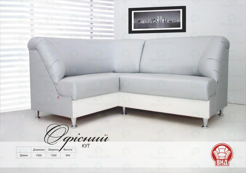 3d модель Угловой диван Офисный – превью