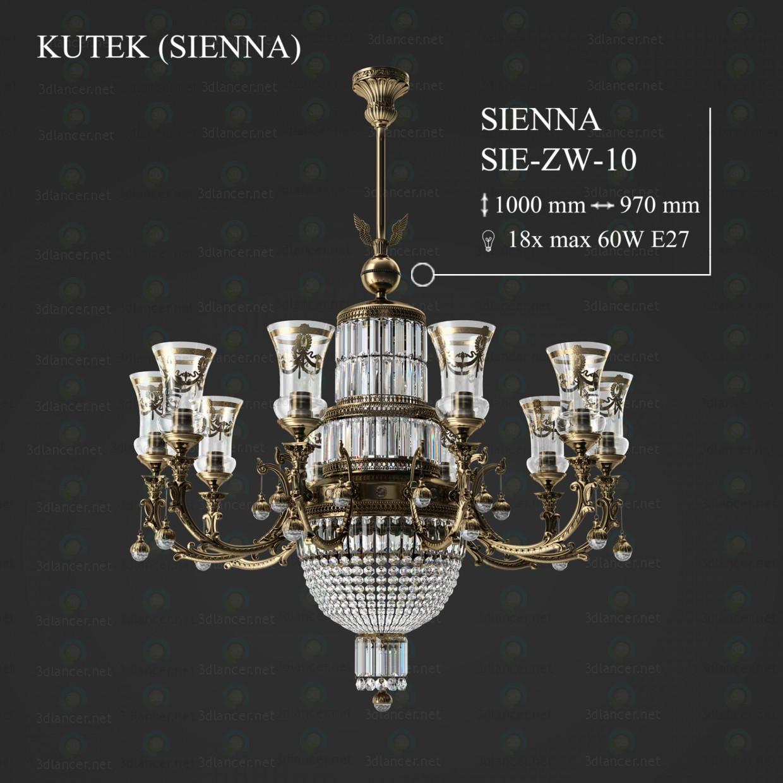 3d модель Люстра KUTEK SIENNA SIE-ZW-10 – превью