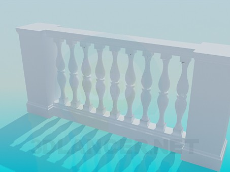 3d модель Балясина - лепнина – превью