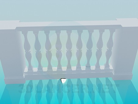 3d model Baluster-stucco work - preview