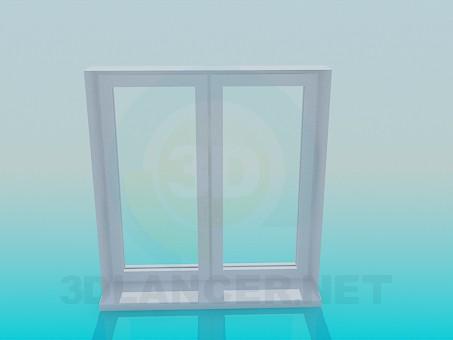 modelo 3D Ventana de la caja de metal - escuchar