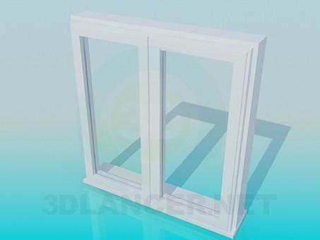 3d model Metal box window - preview