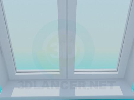 3d модель Окно металлопластиковое – превью