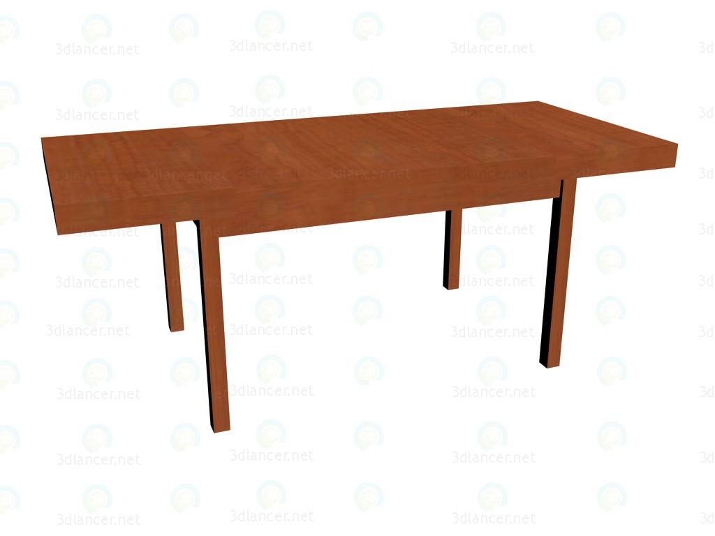 3d модель Стол раскладной (разложенный) – превью