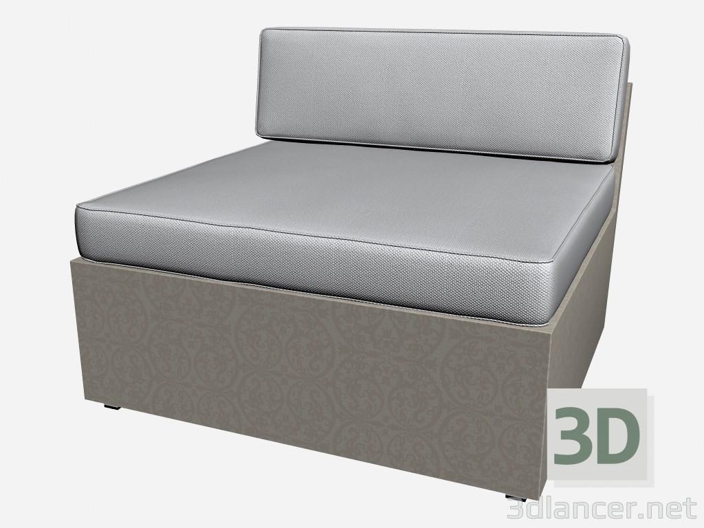 3d model sofa part of central module 55220 55260. Black Bedroom Furniture Sets. Home Design Ideas