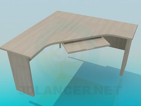 Scarica di Scrivania angolare modello gratuito di modellazione 3D