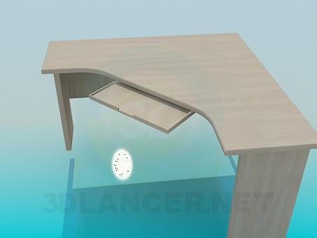 modelo 3D Escritorio de esquina - escuchar