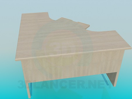 3d model Corner desk - preview