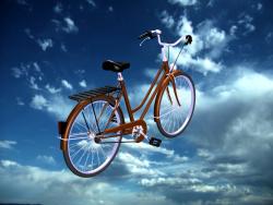 жінка велосипед