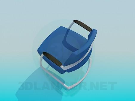 modelo 3D Taburete en un marco de metal - escuchar