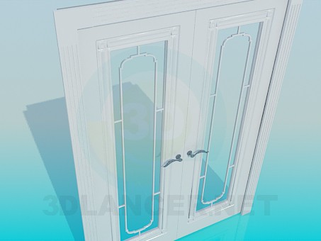 3d model Two-folding door - preview