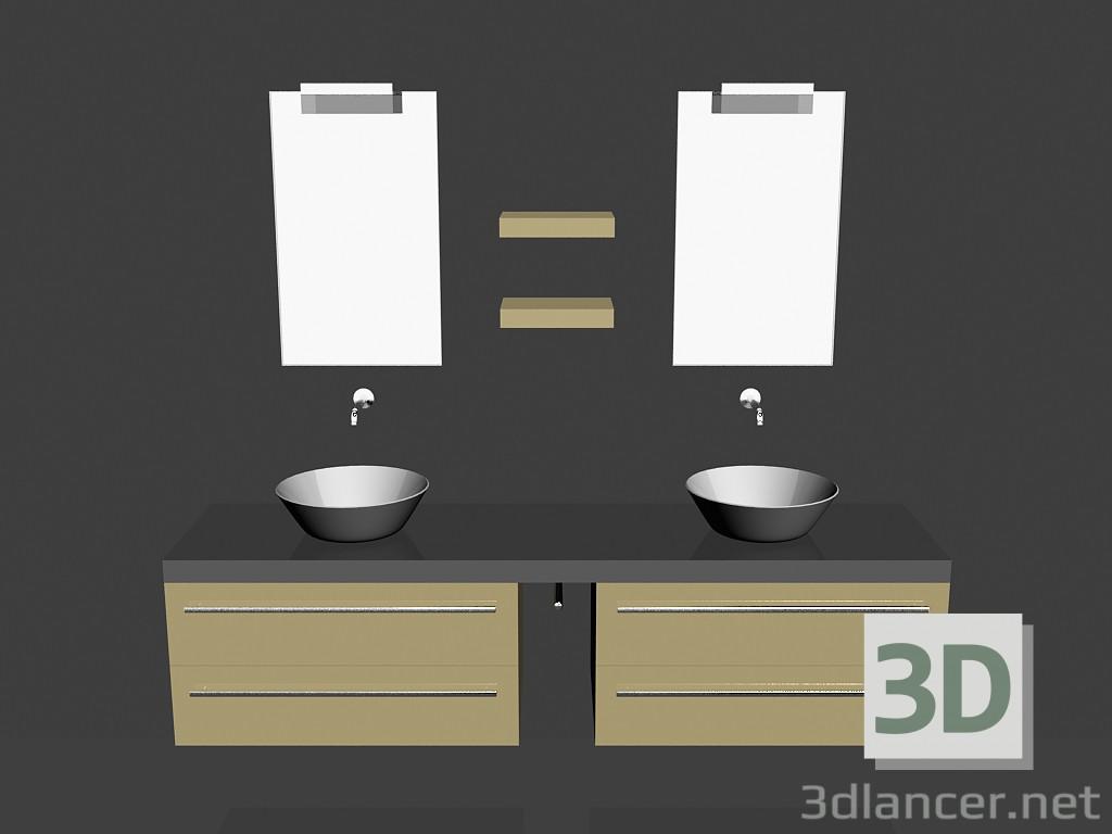 Modelo 3d Sistema modular para baño (canción) (20) del fabricante ...