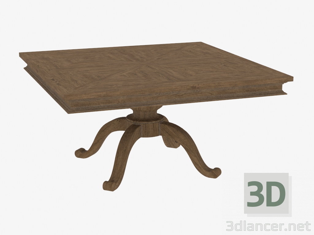 3d Model Dining Table Square Shape Chateau Belvedere Dining Table 8831 0008 59 21978 3dlancer Net