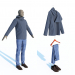 3d Hoodie jackets, jeans and loafers model buy - render