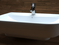 Washbasin derby style, white, VIGOUR