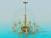 Chandelier with lamps-candle