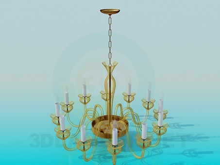 3d model Chandelier with lamps-candle - preview