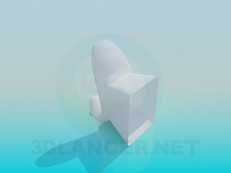 3d модель Крючок настенный – превью