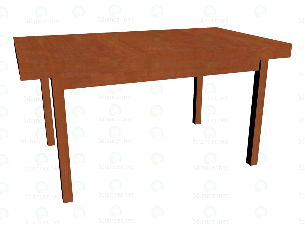 3d model Folding table (folded) - preview
