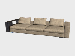 Sofa Infiniti LUX (with shelves, 348x124)