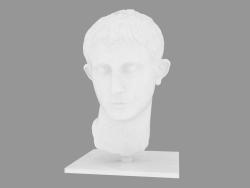 Scultura in marmo della testa dell'imperatore romano Testa di Augusto