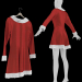 3d Christmas dress model buy - render