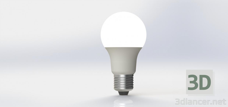 3d LED Lightbulb (LED Spotlight) model buy - render