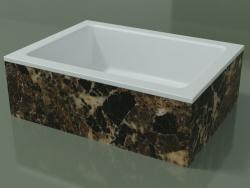 Vasque à poser (01R121101, Emperador M06, L 48, P 36, H 16 cm)