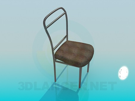 3d модель Простий стілець – превью