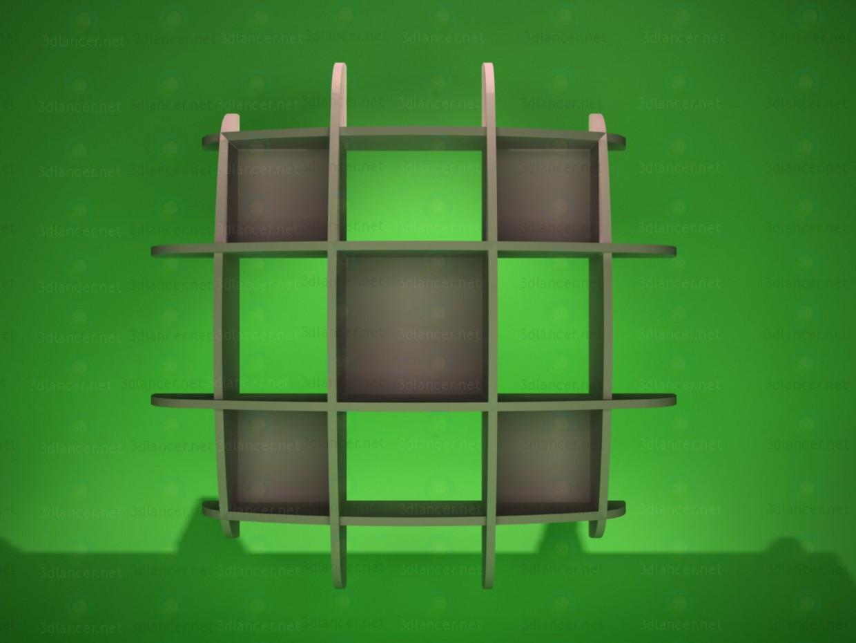 3d модель Полка навесная 1 – превью