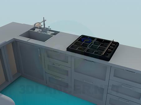3d model Cocina - vista previa