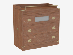 Chest of drawers with metal decor
