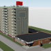 3d Ten-story house 121 series with a shop and a stella model buy - render