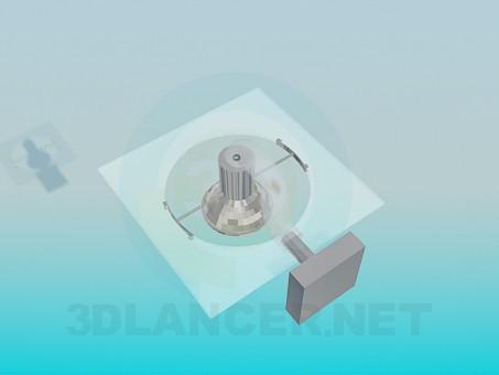 3d model Lamp wall high-tech - preview