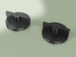 Set of 2 mixing shut-off valves (19 51 V, ON)