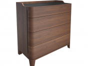 Junius chest of drawers in solid walnut, LA REDOUTE INTERIEURS