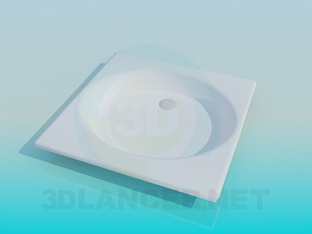 3d model Round shower tray - preview