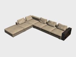 Sofa Infiniti LUX (coin, avec des étagères, 452h350)